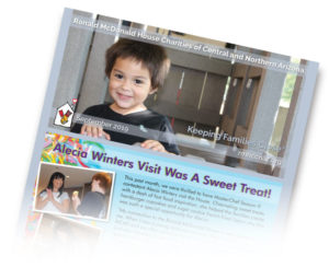 e-Newsletter cover with happy families
